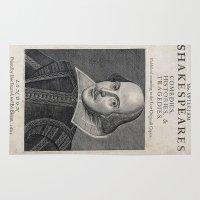shakespeare Area & Throw Rugs featuring William Shakespeare Portrait by BravuraMedia