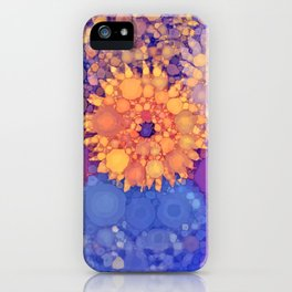 Vintage Flowers in the rain iPhone Case