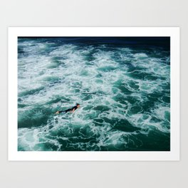 PADDLE OUT Art Print