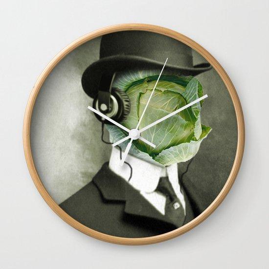 Bowler cabbage Wall Clock