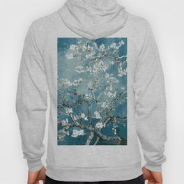 Vincent Van Gogh Almond Blossoms Teal Hoody