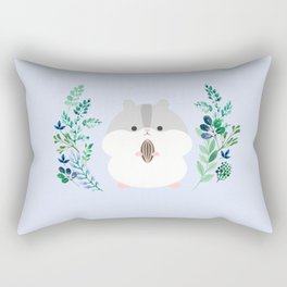 Furball in the garden Rectangular Pillow
