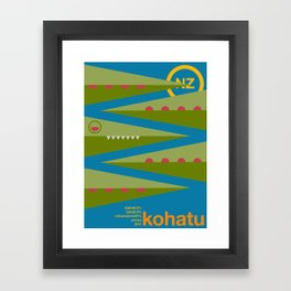 kohatu single hop Framed Art Print