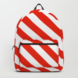 Candy Cane Stripes Red and White Backpack