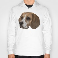 beagle Hoodies featuring Beagle by Goncalo
