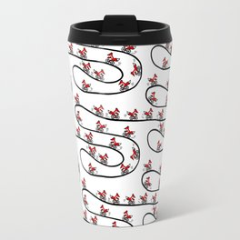 Fox on Bicycle Travel Mug