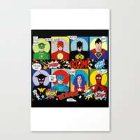 superheroes Canvas Prints featuring Superheroes by Chicca Besso