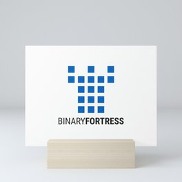 Binary Fortress Software (blue logo) Mini Art Print