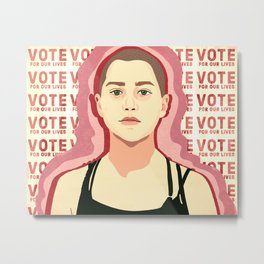 Vote For Our Lives Metal Print