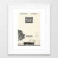 500 days of summer Framed Art Prints featuring (500) Days of Summer by Martin Lucas