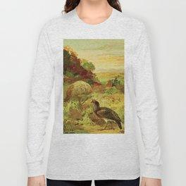 Amazonian birds by Göldi & Emil 1859-1917 Belem Brazil Colorful Tropical Birds Long Sleeve T-shirt
