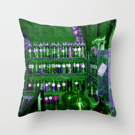 Potion Class - Green and Purple Hues Throw Pillow