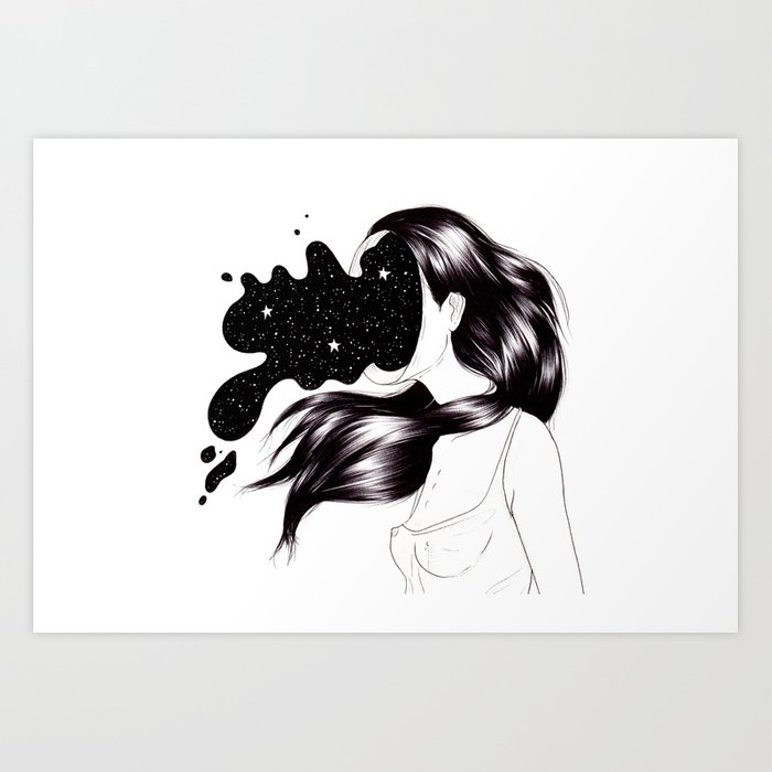 Reflexion II. When you overthink everything Art Print