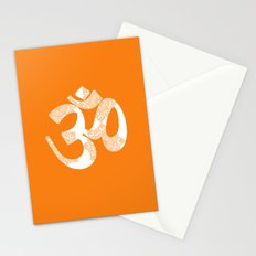 Start your day with OM on Orange Colour Stationery Cards