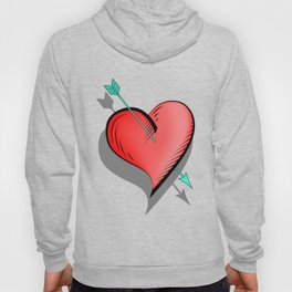 Heart and arrow, a touch of romance Hoody