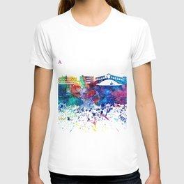 Venezia Italy Skyline Silhouette Impressionistic Blast T-shirt