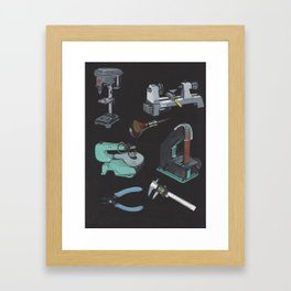 Favorite Tools Framed Art Print