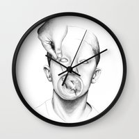 butcher billy Wall Clocks featuring Free Billy! by David Cristobal