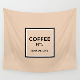 Latte No5 Wall Tapestry