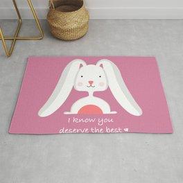 Cute pink Rabbit Rug