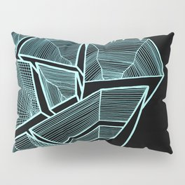 Pockets - Inverted Blue Pillow Sham