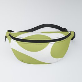 Mid Century Modern Organic Abstraction 349 Olive Green Fanny Pack