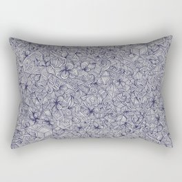Held Together - a pattern of navy blue doodles Rectangular Pillow