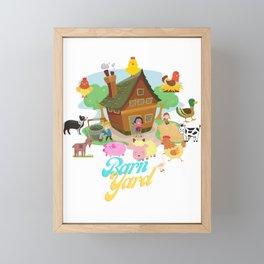Barn Yard Framed Mini Art Print