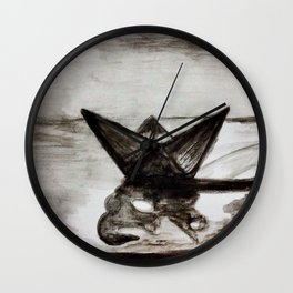 Little paper boat Wall Clock