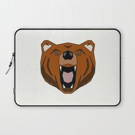 Geometric Bear - Abstract, Animal Design Laptop Sleeve