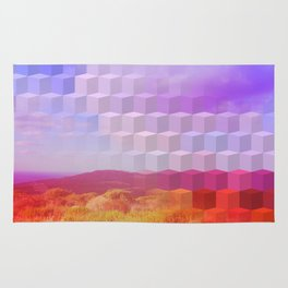Ultra Surreal Countryside Violet Rainbow Rug