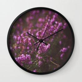Purple Little Flowers in My Garden Wall Clock