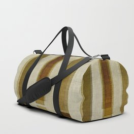 """Burlap Texture Greenery Columns"" Duffle Bag"
