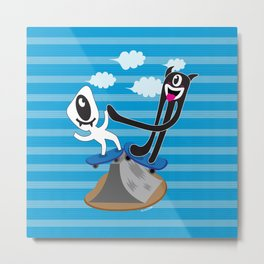 Try and fail, but never fail to try. Hi-Five!!! Metal Print