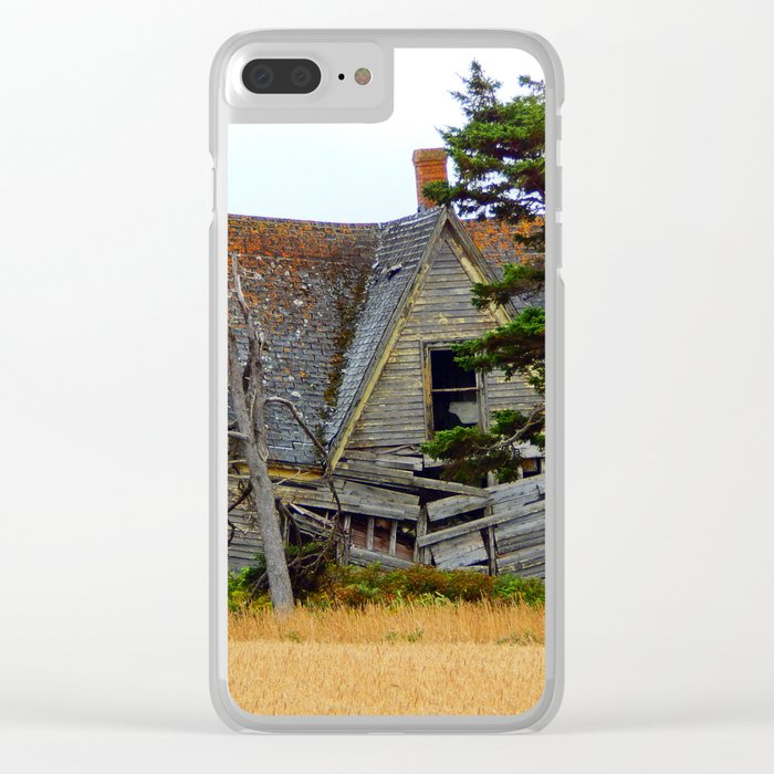 Abandoned Collapsing Homestead Clear iPhone Case