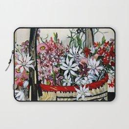 """Basket of Flannel Flowers"" by Margaret Preston Laptop Sleeve"