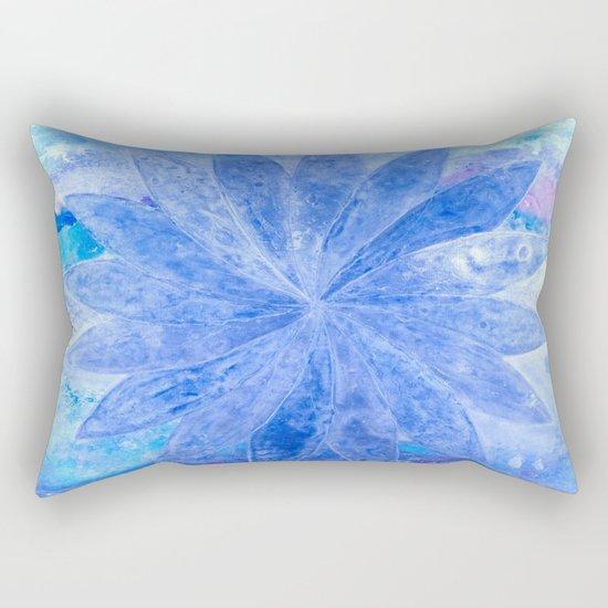 ABSTRACT BLUE DAISY Rectangular Pillow