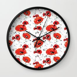 Poppin' Poppies Wall Clock