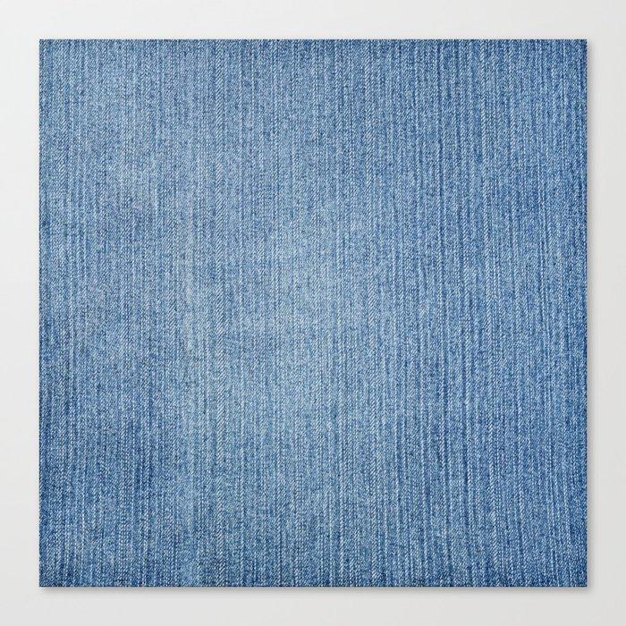 Faded Blue Denim Leinwanddruck