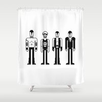 misfits Shower Curtains featuring Misfits by Band Land