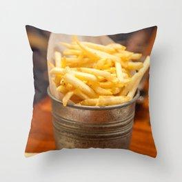 Golden Crisps Throw Pillow