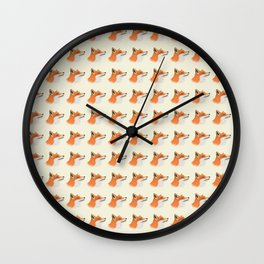All about the foxes. Wall Clock