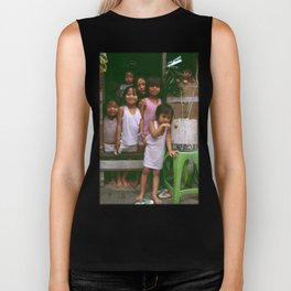 How Many Can We Squeeze into One Hut Biker Tank