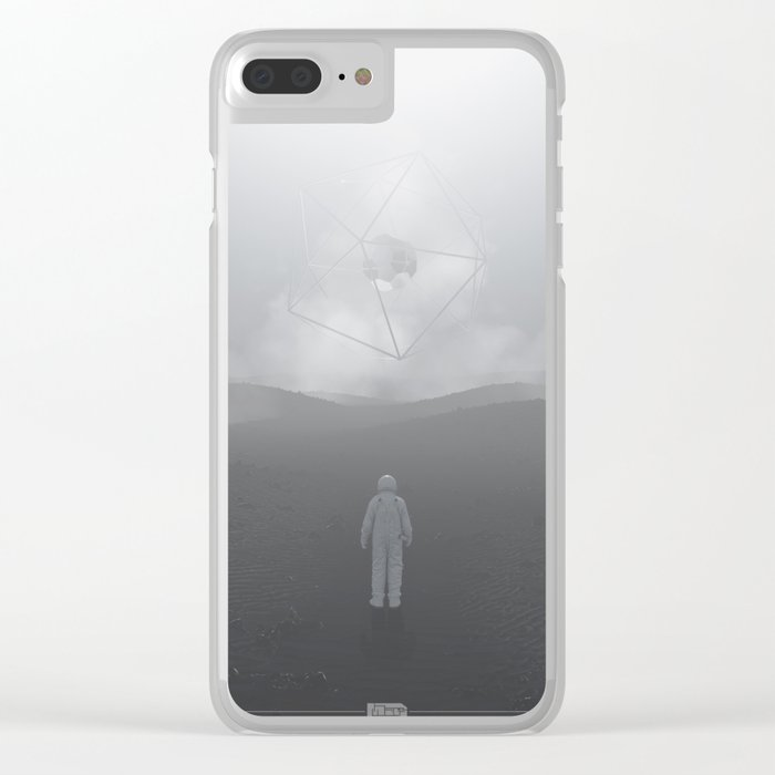 Lost Astronaut Series #04 - Icosa/Bucky Clear iPhone Case