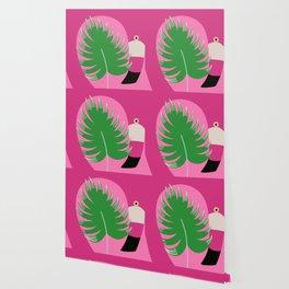 Whimsical Flamingo Wallpaper