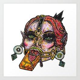 Clamp Vamp Art Print