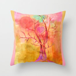 All Creation Sings Throw Pillow