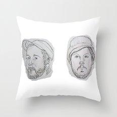 Modest Beards Throw Pillow