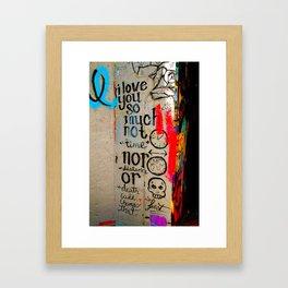 Love Letter in Krog Street Tunnel Framed Art Print