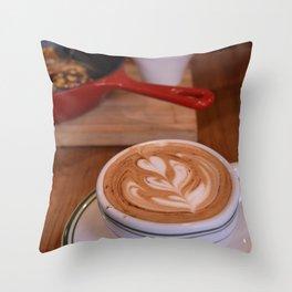 Caffe Macchiato with Breakfast - Cafe or Kitchen Decor Throw Pillow